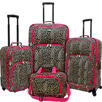 U.S. Traveler Fashion Leopard 4 Piece Spinner Luggage Set - eBags.com
