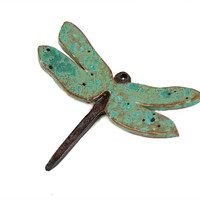 Whimsical Handmade Ceramic Dragonfly - Dragonfly Wall Art - Dragonfly Decor