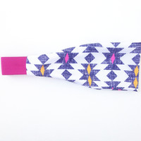 Fitness/Yoga Bands - Navy/Pink Tribal