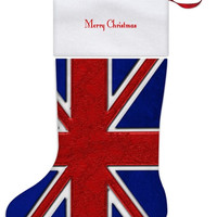 Union Jack British Flag All Over Print Christmas Stocking - Independent Art Gifts By Blooming Vine Design