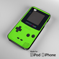 Green Nintendo Gameboy iPhone 4S 5S 5C 6 6Plus, iPod 4 5, LG G2 G3, Sony Z2 Case