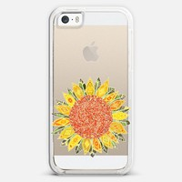 single bright sunflower transparent iPhone 5s case by Sharon Turner | Casetagram