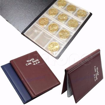 Plastic Albums & Folders 120 Collecting Coin Penny Money Pocket Storage Album Book Holder Case Folder Home Collection Iaems