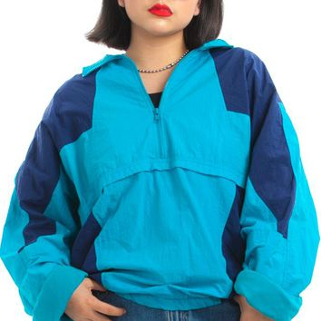 Vintage 90's Pullover Windbreaker Jacket - One Size Fits Many