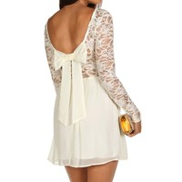Sale-ivory Sequin Chiffon Dress