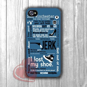 Sam Winchester Quote - Fzia for iPhone 4/4S/5/5S/5C/6/ 6+,samsung S3/S4/S5,samsung note 3/4