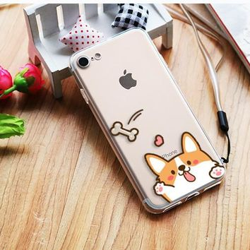 Corgi Iphone 6/6S/7Plus/8Plus Clear Phone Case