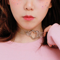Transparent PVC Large Choker