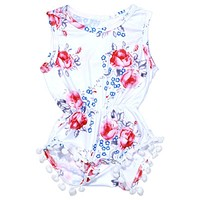 Summer Baby Rompers Clothes Newborn Baby Girl Summer Floral Romper One-piece Sunsuit Outfit Clothing Set