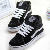 """VANS"" Classic Fashion Casual High Help Shoes Unisex Canvas Straps Shoes Plate Shoes Couple Shoes"