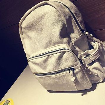 LMFON1O Day First Soft Leather Backpack Vintage Style