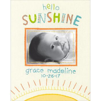 "8""X10"" Stitched In Thread Cathy Heck Hello Sunshine Birth Record Embroidery Kit"