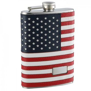 American Flag Flask (Personalized)