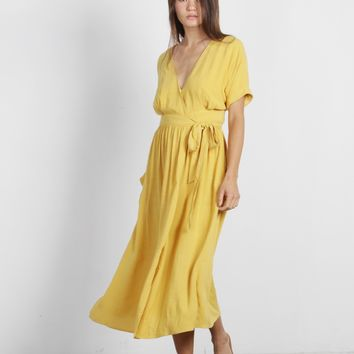 Lenora Wrap Midi Dress