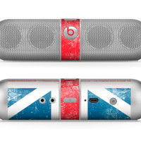 The Scratched Surface London England Flag Skin for the Beats by Dre Pill Bluetooth Speaker