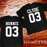 Couple Bonnie and Clyde T-shirts