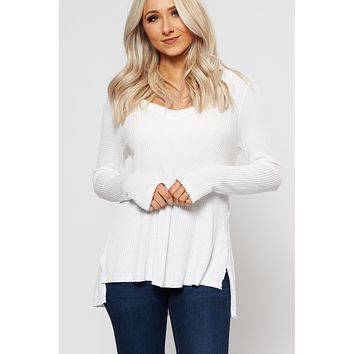 Parker Long Sleeve Top (White)
