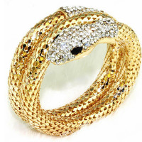 Snake Bangle Cuff Wrap serpiente Bracelet & bangle Gold silver tone exaggerate serpent bracelet