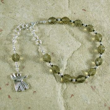 Anubis Prayer Bead Bracelet: Egyptian God of the Underworld and the Afterlife, Guardian of the Dead