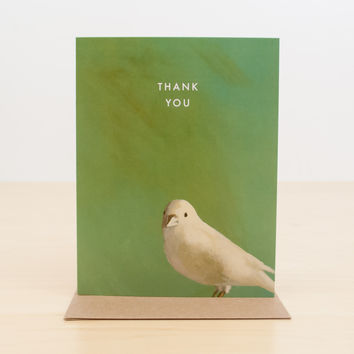 Thank You Soft Bird Greeting Card