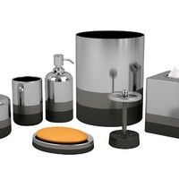 Nu Steel Triune Bathroom Accessories Set ,7-Piece