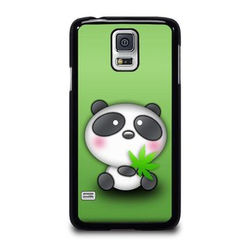 cute panda bear samsung galaxy s5 case cover  number 1