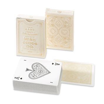 Misc. Goods Co. Ivory Playing Cards