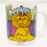 Vintage Leo the Lion Astrology Horoscope Coffee Mug