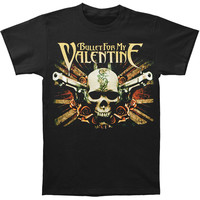 Bullet For My Valentine Men's  Union Jack Pistols T-shirt Black Rockabilia