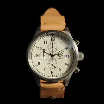 UNIONMADE - il bisonte - Chronograph Watch with Natural Wristband