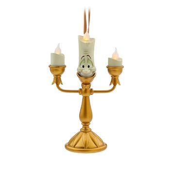 Licensed cool 2016 Disney Store Beauty Beast LUMIERE LIGHT UP CANDLESTICK Christmas Ornament