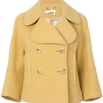 ESBONJF Chloé Cropped Double Breasted Jacket - Farfetch