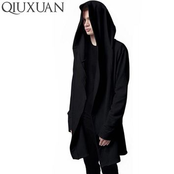 Women Hooded With Black Gown Best Quality Hip Hop Mantle Hoodies and Sweatshirts long Sleeves Design Cloak Winter Coats Outwear