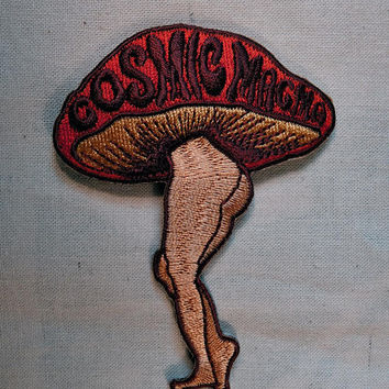 Cosmic Magma Vintage 70s psychedelic patch mushroom
