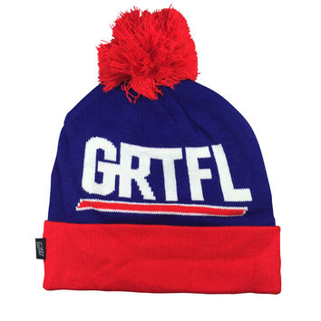 GRTFL NYC Beanie, Giant Blue/Red