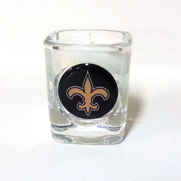 New Orleans Saints Candle - Soy Shot Glass Candle - CHOICE OF SCENT