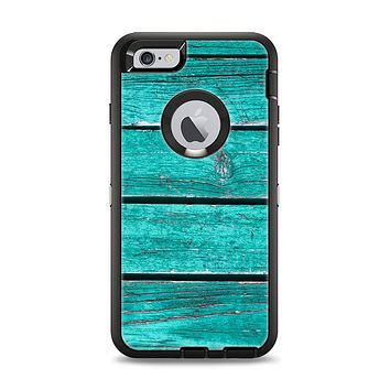 The Trendy Green Washed Wood Planks Apple iPhone 6 Plus Otterbox Defender Case Skin Set