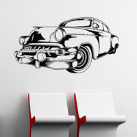 Vinyl Wall Decal Sticker Vintage Car #1554