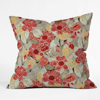 Sharon Turner Snowflake Petals Throw Pillow