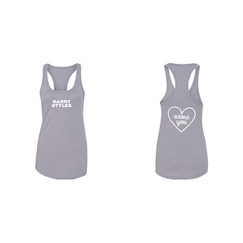 "Harry Styles ""HS / Adore You Heart BACK"" Racerback Tank Top"