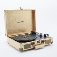 Crosley Cruiser Turntable EU Plug in Gold - Urban Outfitters