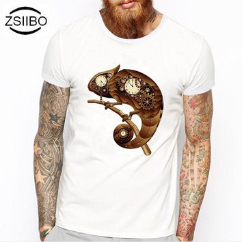 ZSIIBO TX218 Summer Fashion Puppet mouse Design T Shirt Men's High Quality Custom Printed Tops Hipster Tees