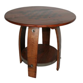 Wine Barrel Game Table