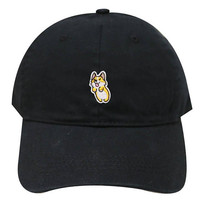 Capsule Design Cute Welsi Corgi Cotton Dad Baseball Cap Black