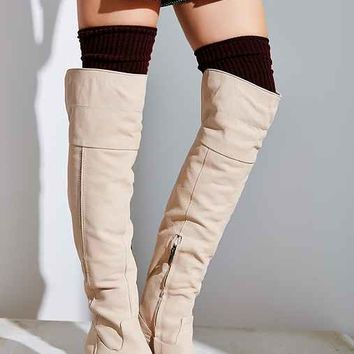 Sam Edelman Joplin Heeled Over-The-Knee Boot- Ivory