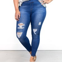 LeAnn Distressed Jeggings | Plus Size