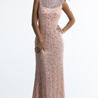 Beaded Evening Gown by Dave and Johnny