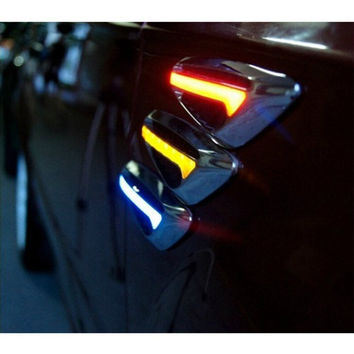 New Arrival 1 Pair Car Steering Fender Side Lamp Auto Car LED Side Lights Marker Turn signal Light Yellow Blue Red White Color