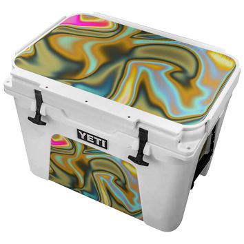 Neon Swirling Metal Skin for the Yeti Tundra Cooler
