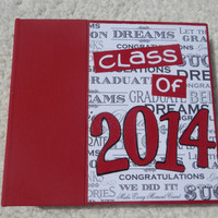 6x6 Class of 2014 Graduation Scrapbook Album in Red